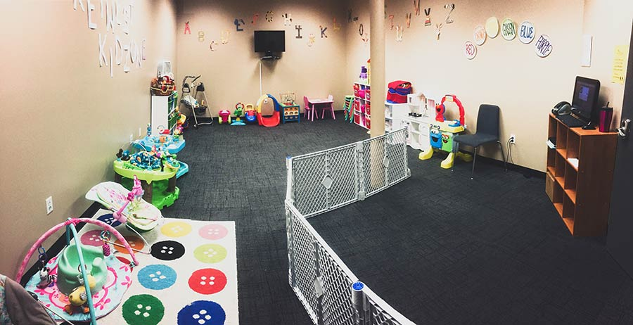 gym with childcare cedar valley