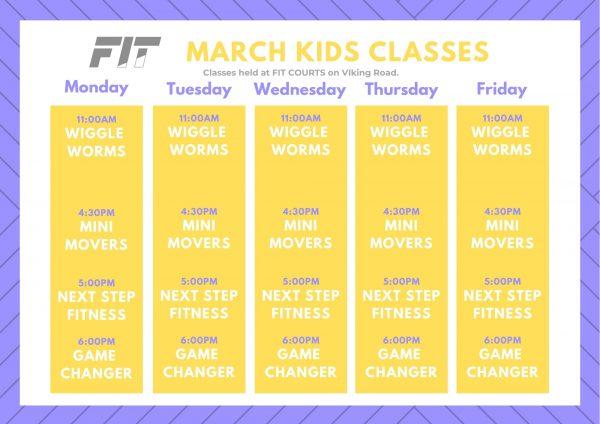 Blue Stripes Simple Class Schedule