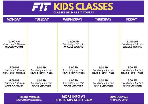 KIDS CLASS Schedule