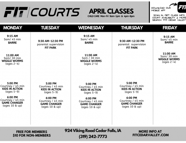 2021 FIT COURTS Class Schedule